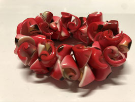 Conchiglia - Bracciale rosso