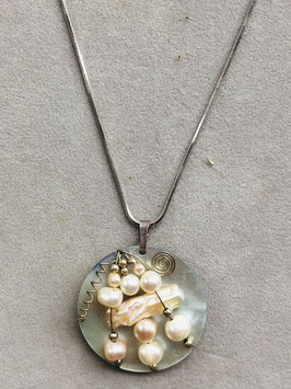 Madreperla con Perle di Fiume - Collana rotonda