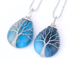 Collanina Albero della vita in Agata Blu
