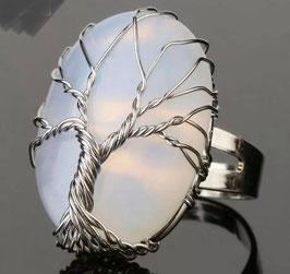 Opalina Albero della vita - Anello regolabile