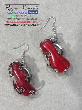 Corallo Rosso - Orecchini Elfici