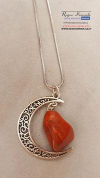 Diaspro Rosso - Collanina con la Luna