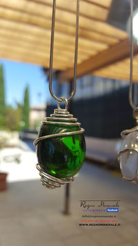 Ossidiana Verde - Collanina Spirale