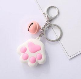 Portachiavi Zampina bianca e rosa Gattino - modello 13