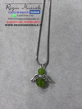 Collanina ANGELO - Verde - Agata