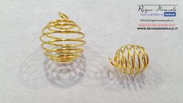 Spirale a molla color oro
