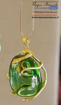 Ossidiana Verde - Collanina Elfica