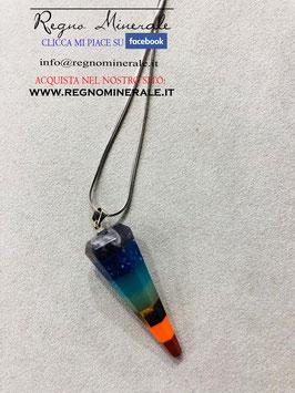 Collanina a Pendolo  7 chakra - Colori più accesi e pendolo più sottile