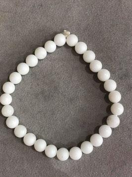 Agata Bianca - Bracciale sfera piccola di 6mm