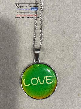 LOVE CAMEO TONDO -   Collana che cambia colore quando cambia il tuo stato d'animo