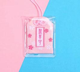 Omamori  (お守り) -Rosa- Amuleto Portafortuna Giapponese