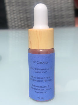6° Chakra – Olio essenziale di Basilico Dinamizzato e Potenziato dall' Ametista