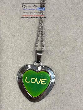 """CUORE """"LOVE""""  Collana che cambia colore quando cambia il tuo stato d'animo"""
