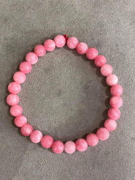 Agata Rosa chiaro - Bracciale sfera 6 mm