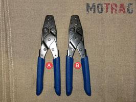 Crimpzange Variante A (offene Kabelschuhe) und Variante B (AMP Superseal)