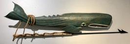 """Lance Lichtensteiger, """"Blue Whale with Harpoon"""""""