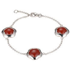 Emanuel Chianti, Fiore triple bracelet red agate