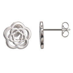 Emanuel Chianti,  Medallion sterling silver  single stud earrings