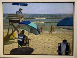 """John Meehan, """"Coolness Under Blue Umbrella"""""""