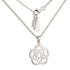 Emanuel Chianti, Medallion sterling silver single pendant with chain