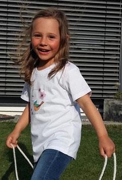 Premium Bio Kinder T-Shirt - 110/116 - Motiv: Vogelgezwitscher