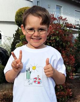 Premium Bio Kinder T-Shirt - 122/128 - Motiv: Badespaß