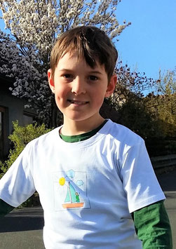 Premium Bio Kinder T-Shirt - 134/140 - Motiv: Segeltour