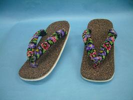 シェニール織のふとい花緒の室内履き( 女性向け )