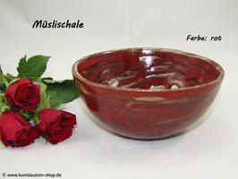 Müslischale, rot