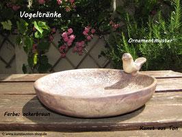 Vogeltränke, Ornamentmuster