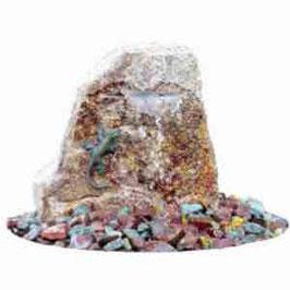 Wasserwelt EIDECHSE aus Bronze und Stein