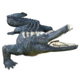 Bronzewasserspeier Krokodil JACK