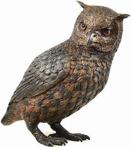 Bronzefigur Vogel Eule NOCTUS