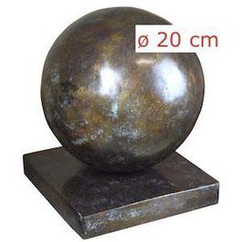 Bronzeobjekt KUGEL 20 cm