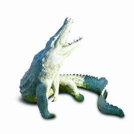 Bronzewasserspeier Krokodil JOE
