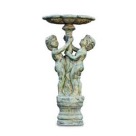 Bronzebrunnen 2-KNABEN UNTERM STANDBRUNNEN