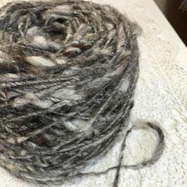 手紡ぎ毛糸 スカンジナビアスチールグレー 50g
