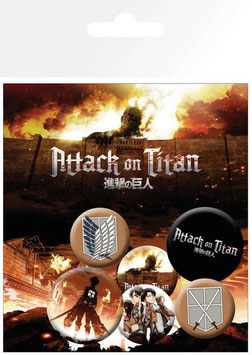 Attack on Titan - Button-Pack 1