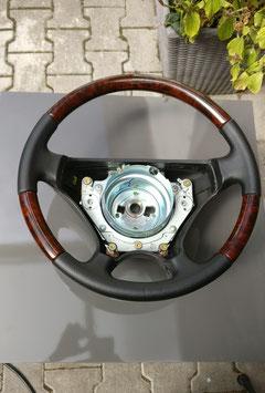 NEUES Original Mercedes Benz Wurzelholz Leder Lenkrad SPORTLINE W124 Mopf2 R129 Mopf1 W210 Mopf0