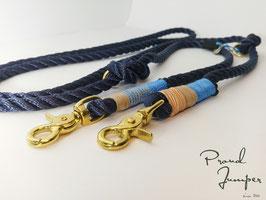 Umhängeleine 'Tampen marine blau-sand'