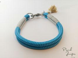 Halsband 'EisblauLeine'
