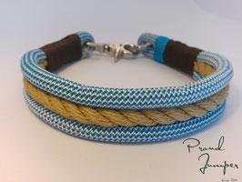 Halsband 'Bulin-hellblau'