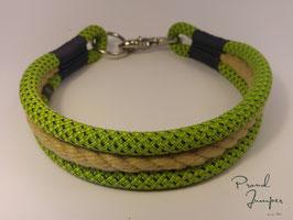 Halsband 'Bulin-grün, Tampenherz'
