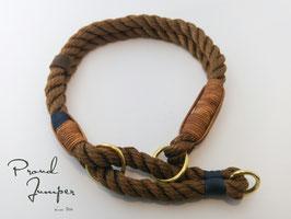 Halsband 'Tampen Zugstopp braun'