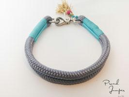 Halsband 'GrauLeine'