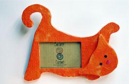 Cadre chat qui chasse (papier de soie)