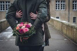 Blumenstrauß Abholung im Geschäft