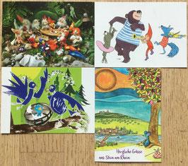 Vier Postkarten