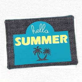 Carte postale tissu Hello Summer