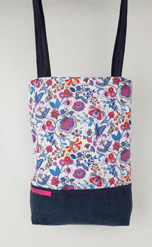 Tote bag réversible Liberty fleuri